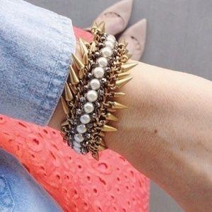 stella & dot ~ jacinthe bracelet ~ spikes & pearls